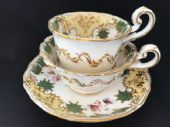 SOLD Coalport tea and coffee trio - c1835